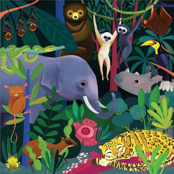 Giftsatbar Zottegem Mudpuppy Jungle 500stuks 02